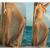 Sexy Mesh Crochet Bikini Cover Up Women Beach Dress Swimwear Bathing Suit Summer