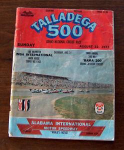 Vintage 1971 TALLADEGA 500 SOUVENIR PROGRAM Alabama International Motor Speedway