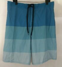 Nwot Mens XL Beach Rays lined swim trunks shorts blue striped new