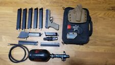 WeTech G18 airsoft hpa pistol semi or full auto selection complete loadout.