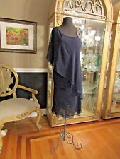 V886 URSULA 11259 NAVY SZ 14 $390 #1633V225 COCKTAIL FORMAL GOWN DRESS