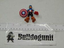 Authentic Captain America 2012 Figure Marvel Super Hero Squad Hasbro