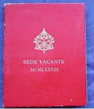 MONETA COIN STATO CITTA' DEL VATICANO 500 LIRE SEDE VACANTE PAPA 1978 ARGENTO