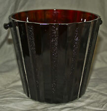 Royal Ruby Red ICE BUCKET in by Anchor Hocking