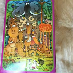 HEYE Mordillo ART Photo Session Jigsaw Puzzle 1000 Piece 1993 RARE Giraffe LION
