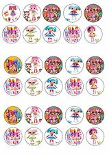 LALALOOPSY  EDIBLE RICE WAFER PAPER CUP CAKE TOPPER X30