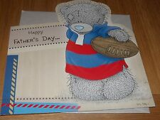 """Me to you... """"Happy Father's Day""""... Cute rugby Themed Card-SEE PHOTO's"""