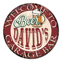 CPBG-0006 BEER DAVID'S Garage Bar Chic Tin Sign Man Cave Decor Gift Ideas