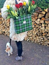 Harris tweed bag purse tote girlfriend wife scottish gift for her tartan tote