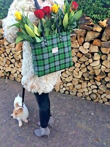 Harris tweed bag purse tote girlfriend wife scottish gift for her tartan tote