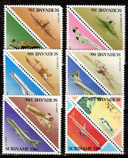 Suriname - 1987 Airplanes - Mi. 1223-34 MNH (#1223 short perf)