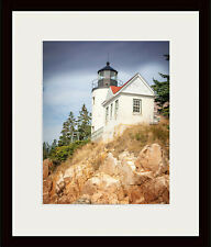 Bass Harbor Lighthouse by Robert Lott Art Print Coastal Maine Ocean Poster 26x18
