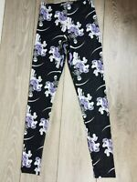 Jilted Generation Leggings Pony Print BLACK Ladies Pants UK Size Small A371-13