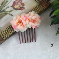 Bridal Girls Flower Handmade Party Hair Clip Hair Accessories Comb Jewelry