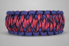 550 Paracord Survival Bracelet King Cobra Purple/Pink/Candy Snake Camping