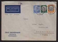 Bremen Germany 1937 5gr Correct Rate Air Mail E Bremmerman J Cuya Uruguay  z30