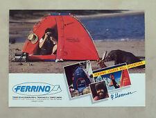 E237 - Advertising Pubblicità - 1986 - FERRINO TENDE ED ACCESSORI TREKKING