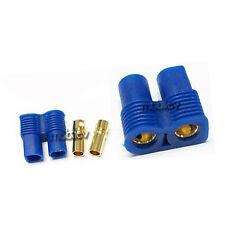 2 pc Female EC3 EC 3 3.5mm Gold Bullet Connector Plug For RC LiPO Battey Blue