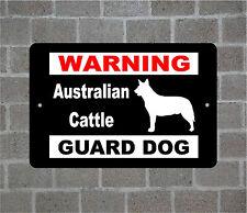 Australian Cattle warning GUARD DOG breed metal aluminum sign