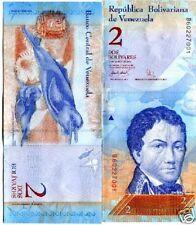 VENEZUELA Billet 2 BOLIVARES 2008 P88 DAUPHINS UNC NEUF