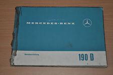 Mercedes Benz 190 D 190 Dc BA Bedienungsanleitung Betriebsanleitung