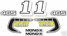 1981 YAMAHA YZ465 COMPLETE DECAL / GRAPHICS KIT
