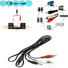 For iPod MP3 Simple Male Stereo Plug to AV Audio Jack 2 RCA Adapter M/M Cable F