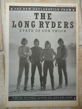 "LONG RYDERS -STATE OF OUR UNION, ALBUM, B&W, N.M.E. ADVERT POSTER, 11.5"" X 16.5"""