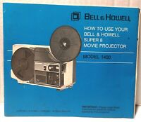 Owners Manual For Bell & Howell Super 8 Movie Projector Model #1400 1976