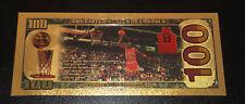 Michael Jordan American $100 Gold Banknote Chicago Bulls Wizards Collectible