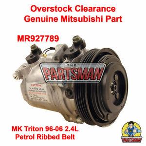 A/C Compressor & Clutch MK Triton 2.4L 4Cyl Petrol 1996-2006 Gen Mitsubishi
