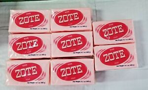 8x Zote Pink Soap (8) Bars 14.1oz Hand Wash Soap for Stains 400g Large Zote Soap