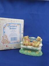 1996 Cherished Teddies To Bears on a Bench Event Figurine CRT240