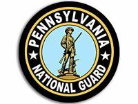 "4"" PENNSYLVANIA ARMY NATIONAL GUARD ANG CAR BUMPER STICKER DECAL USA MADE"