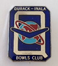 Queensland Durack Inala Bowling Club Badge Pin Rare Boomerang Planet (M12)