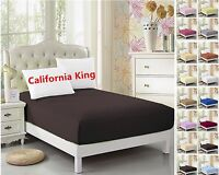 Cal-King Fitted Sheet- 1pc, Ultra Soft Microfiber, Wrinkle Free ,Hypoallergenic