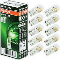 10x Osram Ultra Life W5W 12V Number Plate Interior Signal Lamps 2825ULT