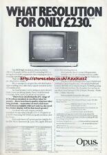 "Opus JVC Colour Monitor ""Vintage Hardware"" 1984 Magazine Advert #5225"