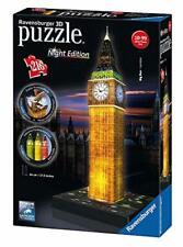 Inglaterra Big Ben noche 3D edición 216pc Rompecabezas Divertido Juego Ravensburger NUEVO