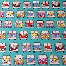 Camper van teal/mint - Rose and hubble by the metre