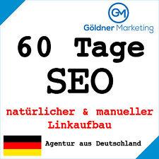 ★ 60 Tage Suchmaschinenoptimierung manueller Linkaufbau Backlinks Website SEO ★