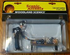 Woodland Scenics G #2561 Law and Lawless on Bench (Figures)