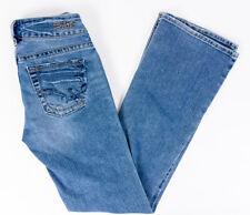 f0a28504 Silver Jeans SUKI Women's Medium Wash Low Rise Boot Cut Blue Jeans Size 26