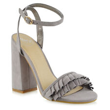 Womens High Heel Strappy Sandals Ladies Peep Toe Crossover Ankle Strap Shoes 3-8