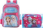 "Disney Frozen 16"" Large Backpack and Lunch Anna Elsa School Bag Children Kids"