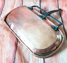 French vintage drip pan jus tin lined copper cuivre kupfer lèchefrite