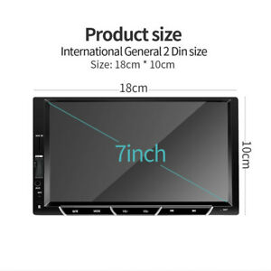 """7"""" 2DIN Car MP5 Player Bluetooth HD Touch Screen Stereo FM Radio GPS USB/TF/AUX"""
