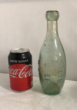 Old Glass Torpedo Shaped Bottle Josiah Russell & Co