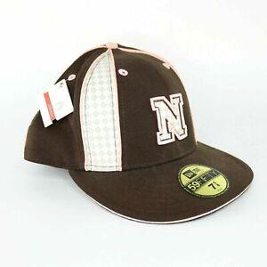 New Era 59Fifty Nixon Team Player Cap Size 7 5/8 Brown Pink