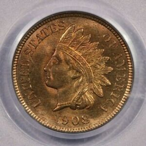 1908-P 1908 Indian Head Cent 1C Old Green Holder OGH PCGS CAC MS65RD